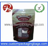 Red Bottom Gusset Stand Up Pouches Resealable For Dried Fruit