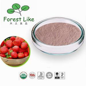 China Food Ingredients Freeze Dried Strawberry Fruit Powder on sale