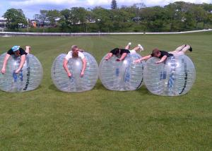 China Outdoor Inflatable Toys 0.8mm PVC 1.5m Air Bunmper Ball Body Zorb Ball For Adult on sale