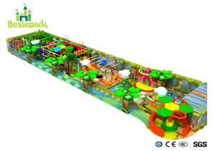 China Safe Indoor Wooden Playground , Toddler Play Equipment Custom Design on sale