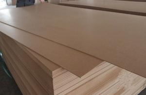 China High Density MDF Furniture Board / Wood MDF Veneer Sheets 10-25mm Thickness on sale