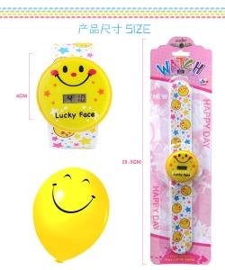 China Smiling face G101-30 Electronic watch toys for kids on sale