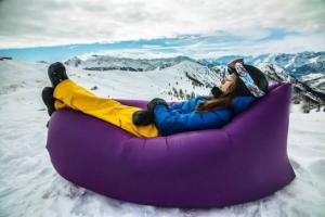China custom printed lamzac hangout sofa bed inflatable sleeping bag on sale