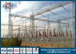 Estructuras de acero de la subestación del transformador de poder cónicas, redondo