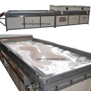 China Machine semi-automatique de peau de porte de presse de membrane de vide de double table de travail on sale