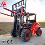 3.5t 4WD Rough Terrain Forklift Logistics Machinery Small Off Road Forklift