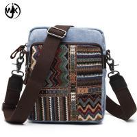 Guangzhou factory italian leather messenger bag wholesale male handbag crazy horse leather canvas messenger bag