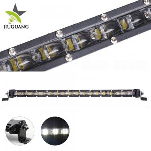 China Single Row Jeep Led Light Bar 6 D Over 50000 Hours PMMA Lens Material on sale