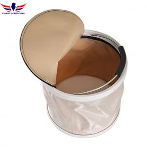 China Collapsible Bucket Water Storage Container Barrel with Lid Folding Wash Basin on sale