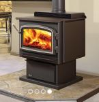 Multi Function Indoor Wood Stove Remote Control Stainless Steel Material