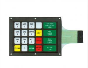 China Multiple Tactile Metal Dome Membrane Switches Keyboard ISO14001 & ROHS on sale