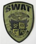 Custom logo patch sew on embroidery patches from quality factory