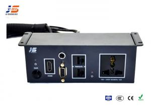 VGA Multimedia Connection Box For Meeting Conference Table - Table connectivity box