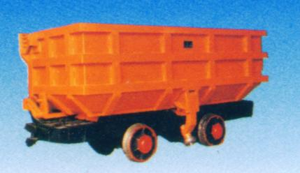 Antique v bottom dump wagon