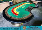 China 8 Person Casino Luxury Poker Table With Thick Black Camphor Wood Fire Panel wholesale