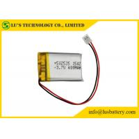China Rechargeable Lithium Polymer Battery 3.7V 400mah With PCM / Wires / Connector on sale