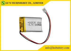 China LP502535 Rechargeable Lithium Polymer Battery 3.7V 400mah With PCM / Wires / Connector on sale