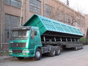 China 40 cubic meter side tipper trailer semi dump trailers tipping trailer for sale on sale