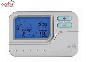 China LED Blue Backlight 7 Day Programmable Thermostat With HVAC System on sale