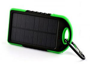 China Outdoor Waterproof Solar Power Bank 5000 MAh , Portable Solar Battery Charger on sale