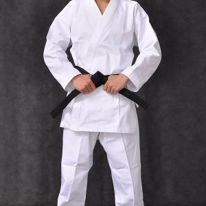 China Martial Arts Karate Uniform With Black Belt Light Weight Karate Training Uniform / Cotton Light Weight Master Karate Uni on sale