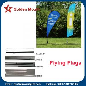 China Promotion Feather Flags Custom With Kits on sale