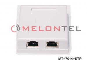 China 2 Port Surface Mount Outlets , FTP STP Shielded RJ45 Surface Wall Mounted Box on sale