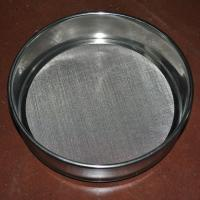 China Laboratory Wire Mesh Sieve , 10 30 50 60 80 Micron Stainless Steel Fine Mesh Sieve on sale