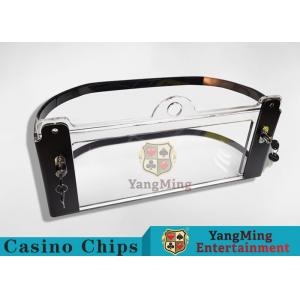 China Arc Shape Poker Discard Holder/ Playing Card Tray Holder With Chips Protection on sale