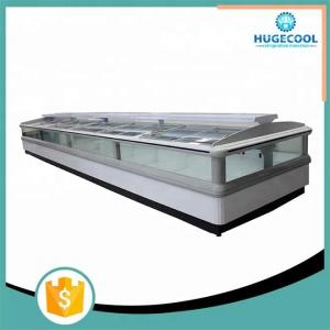 China Commercial Supermarket Island Freezer , Island Display Fridge CE Certificated on sale