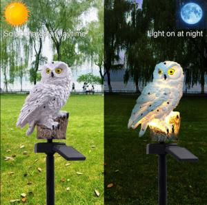China Owl Outdoor Solar Post lights Solar Powered LED Garden Lights Animals For Path Lawn Yard Garden on sale