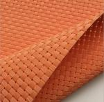 Textilene? outdoor furniture Weave mesh UV fabric 8X8 wires woven orange color