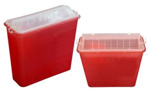 China Safety Medical Sharp Containers For Needles , Surgical Waste Syringe Disposal Box on sale