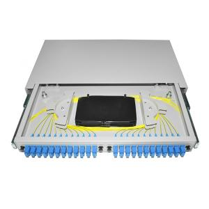 China 19'' rack mounted OTB ODB 12 24 port SC connector pigtail Fiber Optic Patch Panel on sale