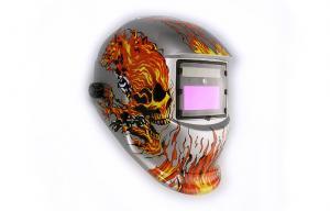 China Adjustable Electronic Welding Helmet Auto-Darkening With LED Light on sale