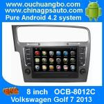 China Ouchuangbo Android 4.2 DVD Radio GPS Navi for Volkswagen Golf 7 2013 3G Wifi Audio SD WIFI wholesale