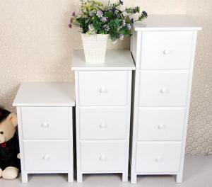 China White Wooden Drawer Bedroom Corner Cabinet Living Room Furniture on sale