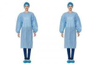 China Waterproof Surgical Gowns?, Disposable Hospital Theatre Gowns PP+PE Coating on sale