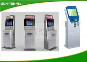 China Self Service Solutions Check Cashing Kiosk , Bank Kiosk Machine With Telephone / Webcam on sale
