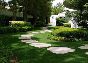 China Plastic 25mm Garden Artificial Turf Safe 16800 Stitches / ㎡ Density Pet Friendly on sale