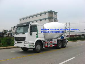 China 336hp Sinotruk Howo7 10m3 8m3 Concrete Mixer Tank 6x4 Lhd White Color on sale