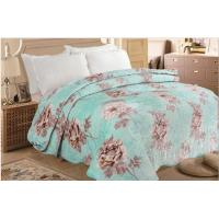 China 100% Polyester Soft Quilt Blanket Comfortable Floral Printed For Bed / Sofa Throws on sale