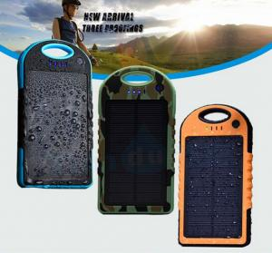 China Portable Solar Panel Charger Waterproof 5000mAh 12000mah OEM/ODM on sale