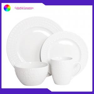 China Multi Size Custom Ceramic Dinner Set Engraved Coffee Mugs Steak Plate Dinner Plate on sale