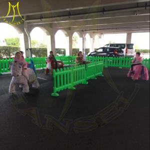 China Hansel amusement outdoor playground game machine children ride on plush motorized animals on sale
