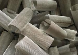 China 0.025 - 2.5 Mm Wire Mesh Filter Element Cylinder Alloy Mesh For Water Filter on sale