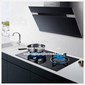 China O preto moderou/vidro temperado para o fogão de aparelho eletrodoméstico da cozinha/de capa/gás da escala on sale