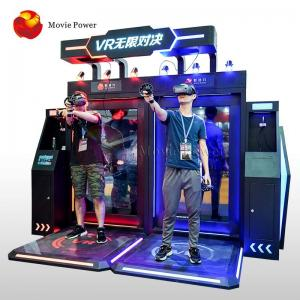 China Electric System Interactive Virtual Reality Simulator Standing Shooting Game Machine on sale