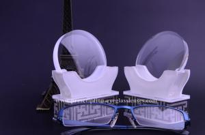 China Semi Finished 1.56 Round Top Lens Blanks , Blocking Blue Light Eyeglass Lens Blanks on sale