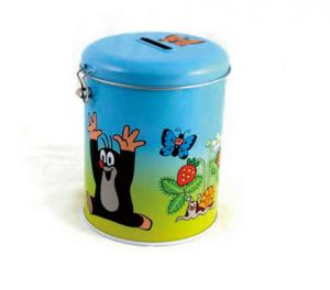 China Lovely kid metal piggy bank with lock supplier